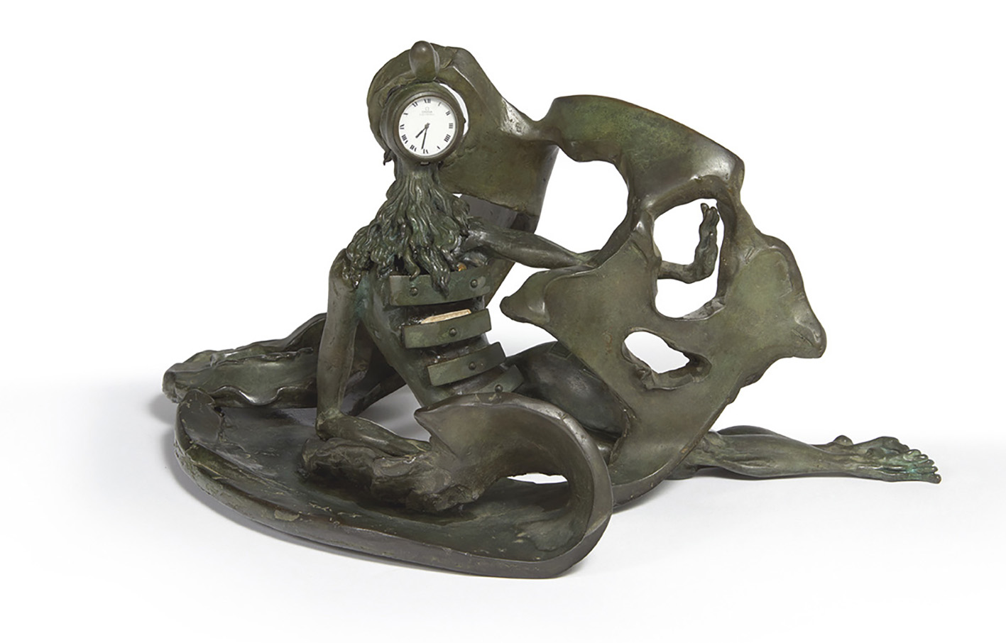 Salvador Dalí (1904-1989), La Prémonition des tiroirs (The Premonition of the Drawers), 1973, bronze with green patina, signed artist's pr