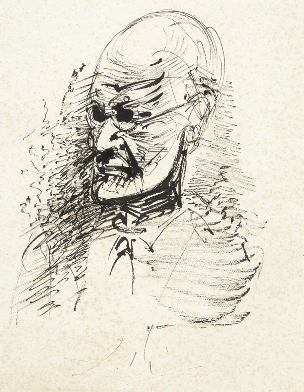 Salvador Dalí (1904-1989), Portrait of Freud, pen and ink, 26 x 21 cm (10.24 x 8.27 in).Estimate: €15,000/20,000