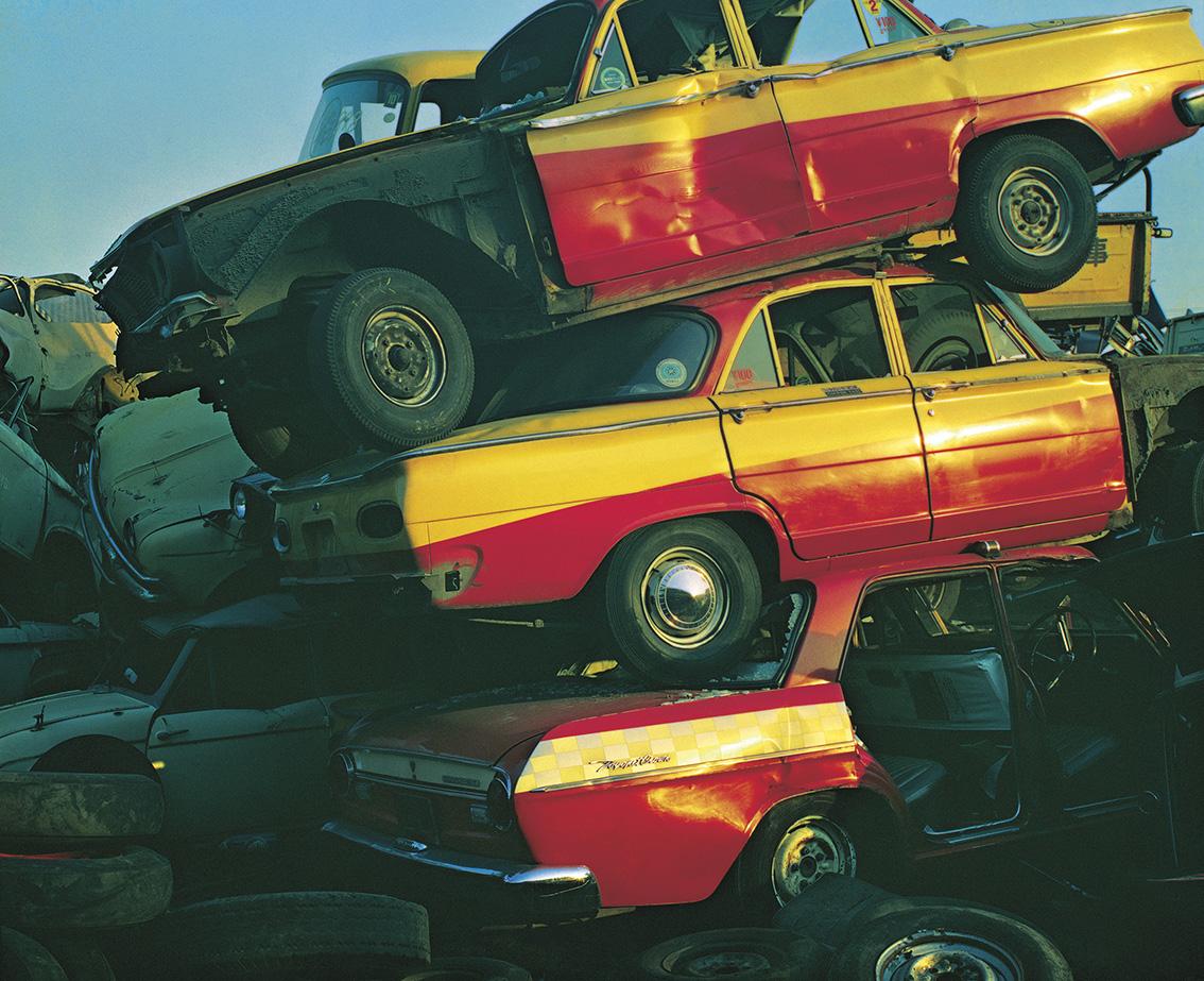 Shomei Tomatsu(1930-2012), Taxis, Tokyo, 1967, tirage jet d'encre, 59x42cm.©Shomei Tomatsu - Interface