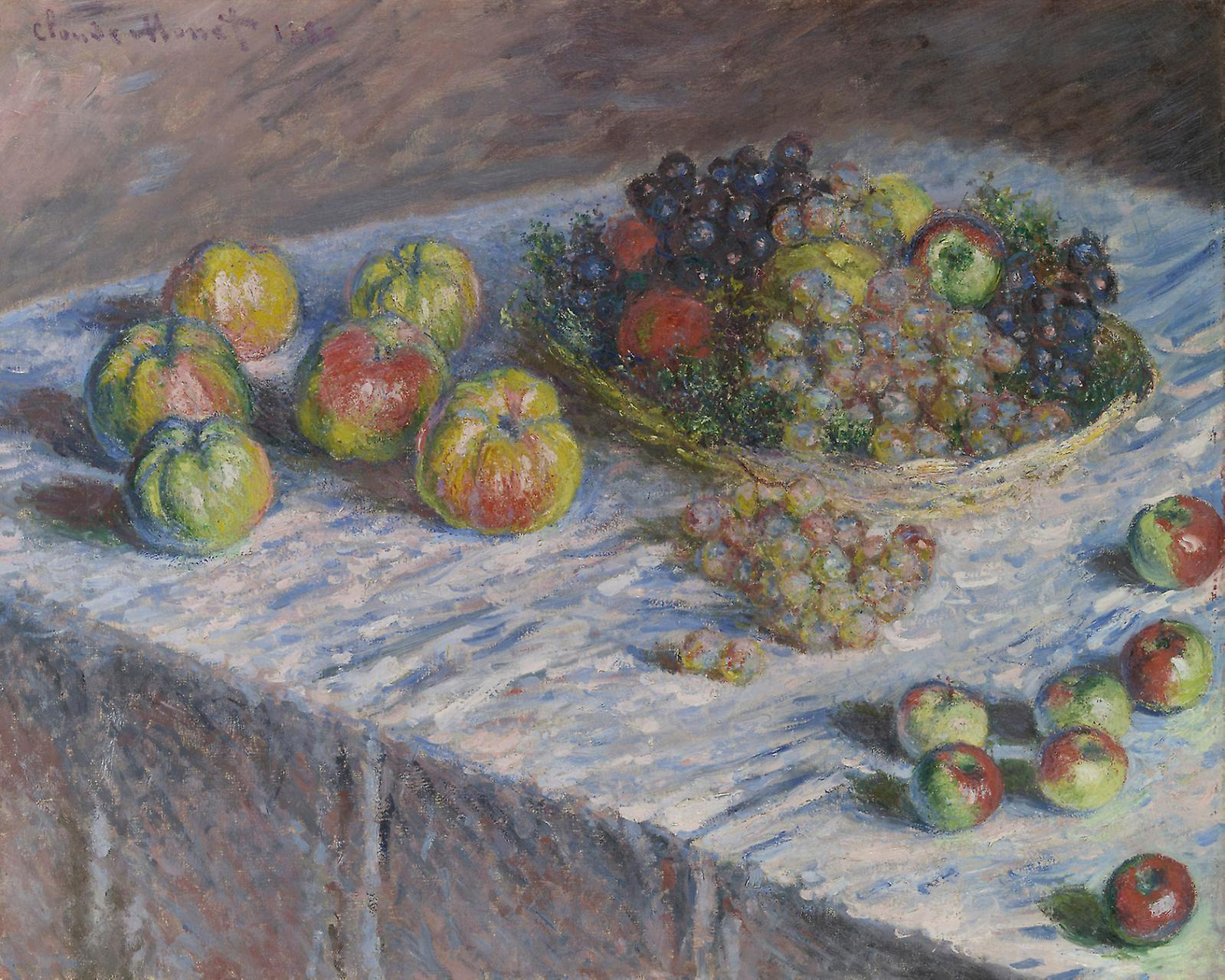 Claude Monet, Apples and Grapes, 1880, oil on canvas.Courtesy of The Art Institute of Chicago, Mr. and Mrs. Martin A. Ryerson Collection.