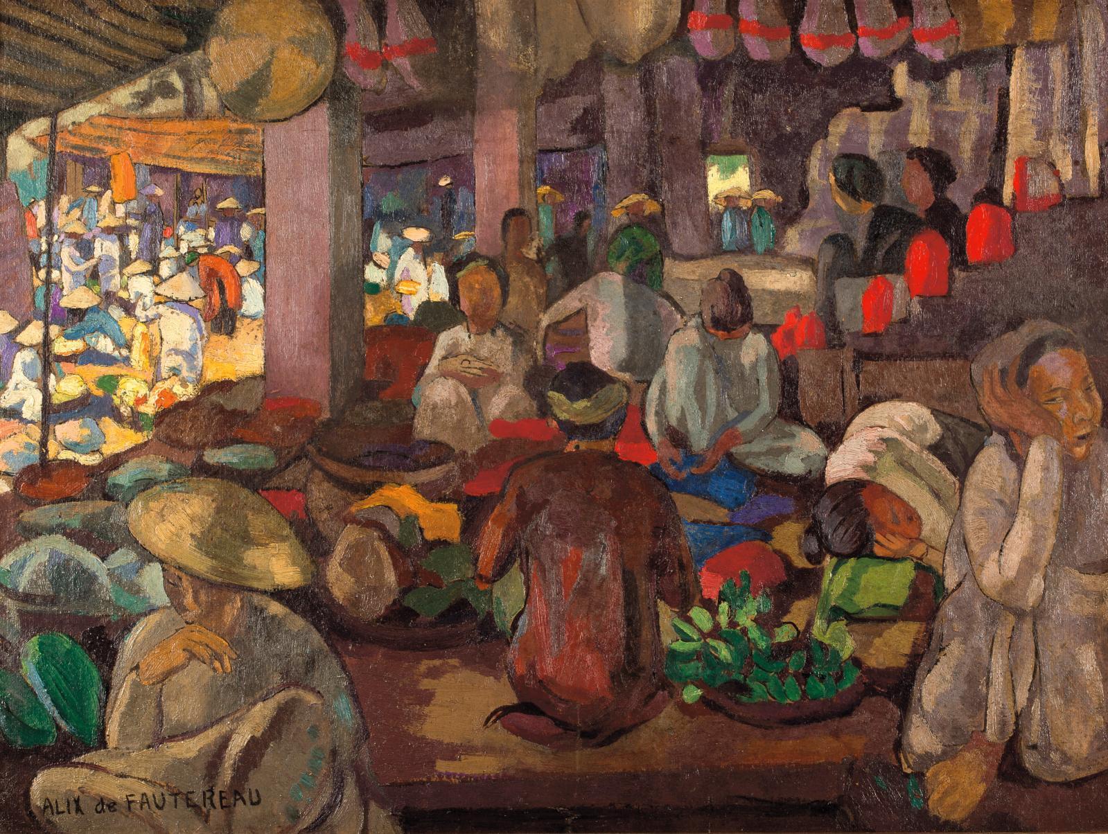 Alix Aymé (1894-1989) sera représentée par sept œuvres évoquant son amour de l'Indochine. Des portraits de femmes et d'enfants, et cette S