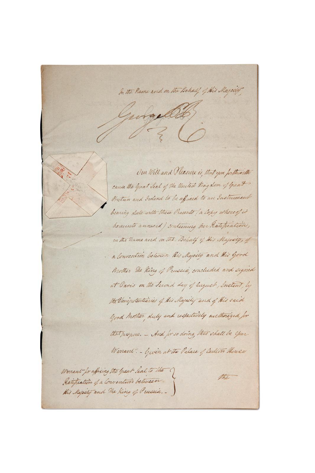 Le jeudi 19novembre dispersait des documents ayant trait aux grands personnages de l'histoire (M.Bodin, expert). Ce document du roi d'An