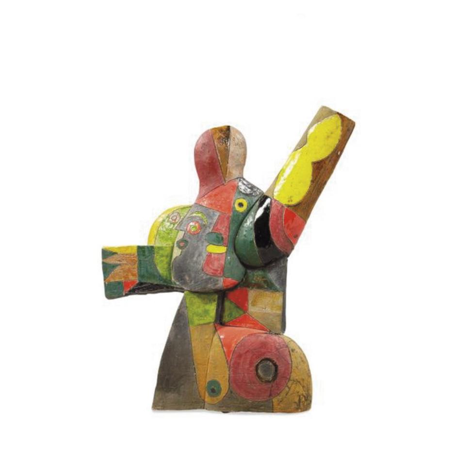 7900€ Roger Capron, sculpture en céramique émaillée, signée, h.55cm.Drouot, 17juillet 2020. Gros &Delettrez OVV.