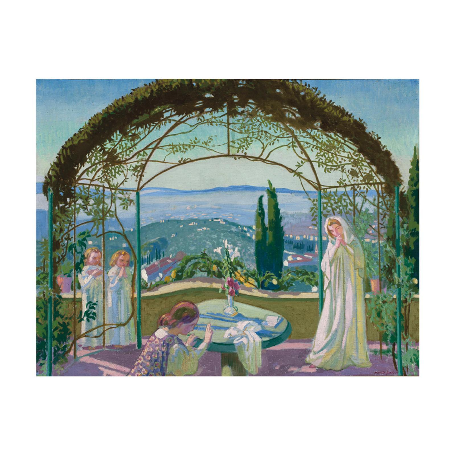 114400€ Maurice Denis(1870-1943), Annonciation à Fiesole (Bellavista), 1907, huile sur toile signée, située et datée, 67x86cm.Drouot