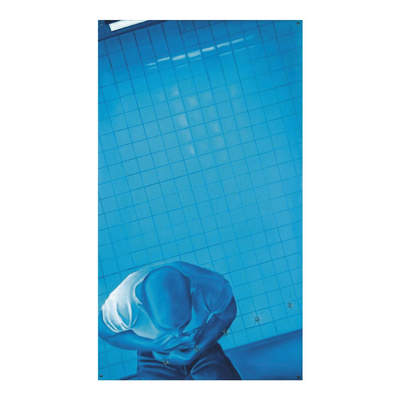 52000€ Jacques Monory(1924-2018), Meurtre no6, 1968, huile sur toile et Plexiglas avec impacts de balles, 121x69cm.Drouot, 21octob