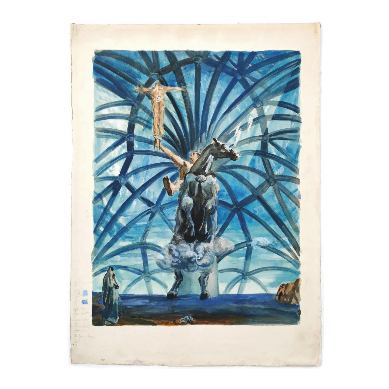 20431€ D'après Salvador Dalì(1904-1989), épreuves de travail pour la production de l'édition lithographique à partir du tableau du Cata