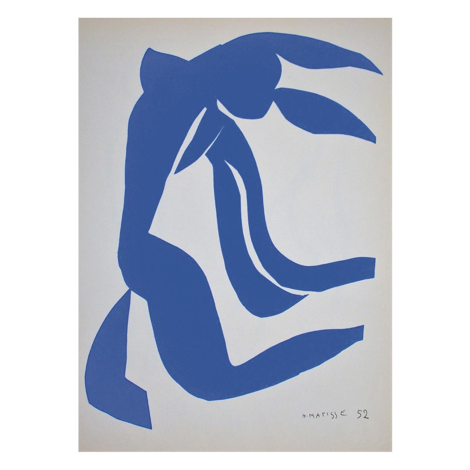662€ Henri Matisse(1869-1954), LaChevelure, lithographie sur vélin signée, atelier Art-Litho imprimeur et Artvalue éditeur, 200ex., 76