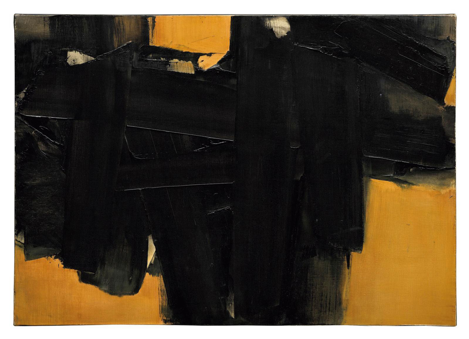 Pierre Soulages (b. 1919), Painting, 64.5 x 91 cm (approx. 25.4 x 35.8 in.), January 12, 1962.© Christie's Images Ltd, 2020