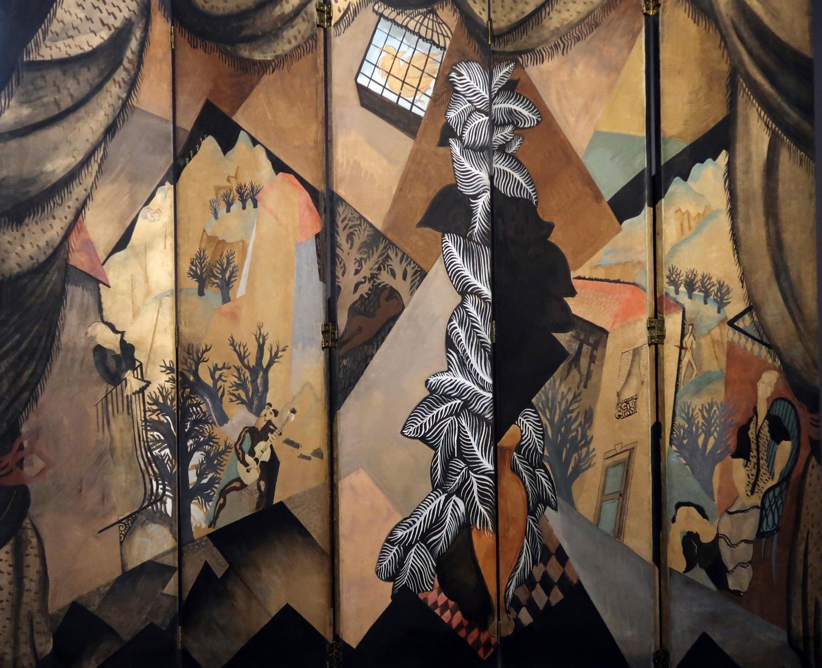 Jean Lurçat, paravent L'Été, 1922, peinture à la colle, graphite, châssis en bois, Centre Pompidou, Mnam-CCI, Paris.
