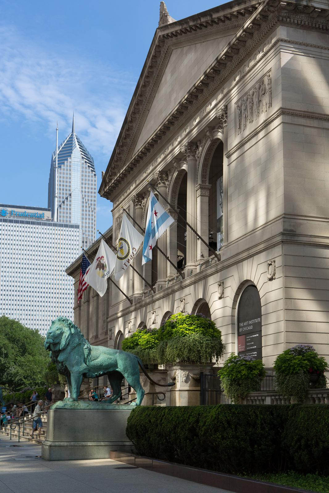 The Art Institute of Chicago, view of Michigan Avenue Entrance.Courtesy of the Art Institute of Chicago.