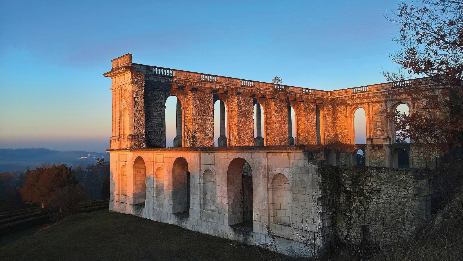 L'aile inachevée du château. ©Château de la Mercerie