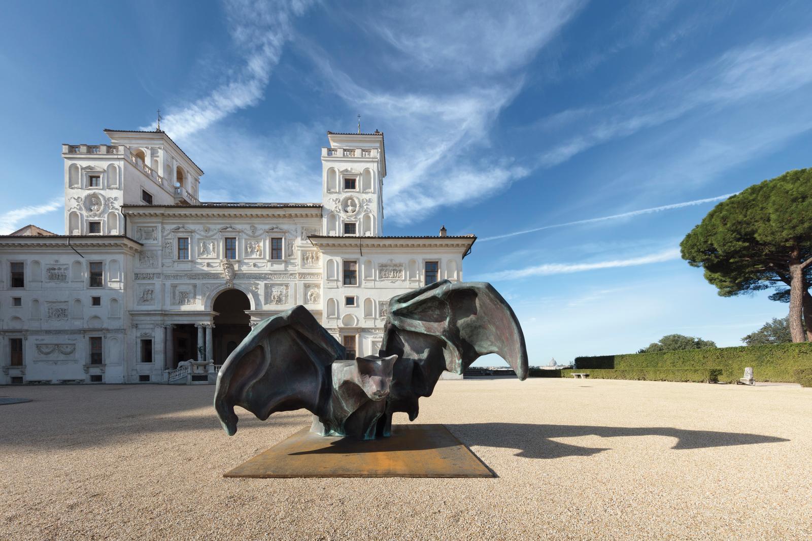 Johan Creten, exposition «I Peccati» à la villa Médicis, 2020. © Académie de France à Rome - Villa Médicis