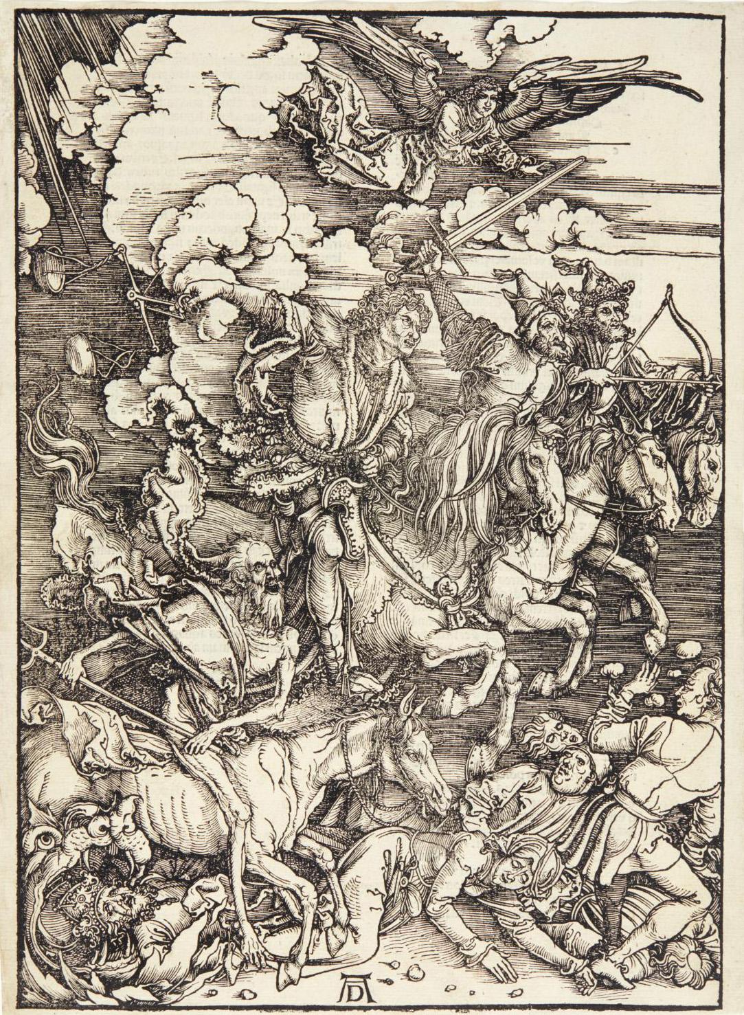 Albrecht Dürer (1471-1528), Saint Eustachius (also called Saint Hubert), 1501, engraving, margin fillet just after the composition, 35 x 2