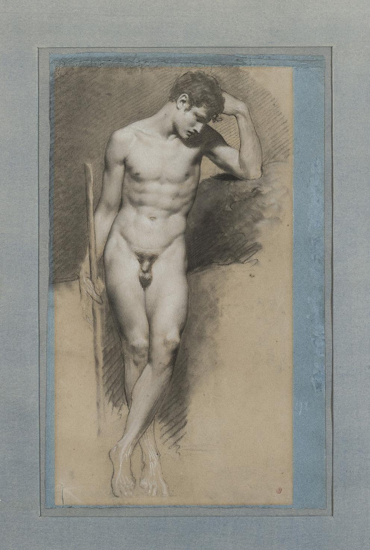 Pierre-Paul Prud'hon(1758-1823), Jeune homme nu, premier quart du XIXesiècle.©MAD, Paris / Photo: Jean Tholance