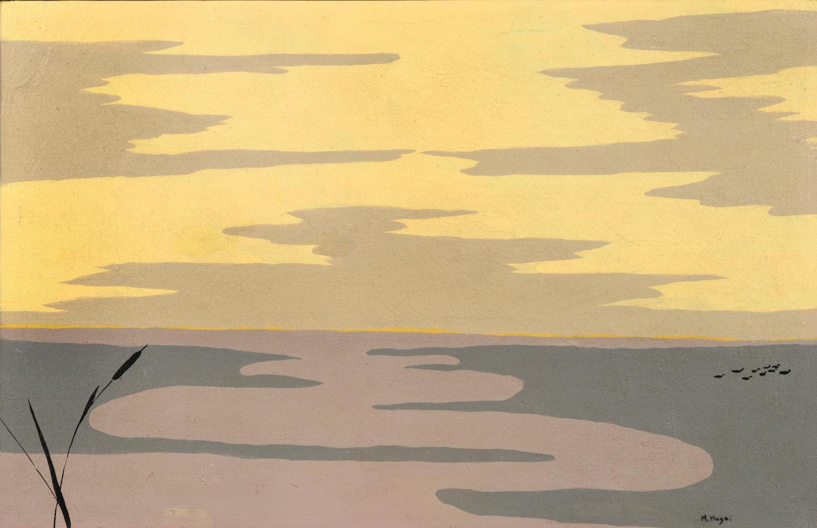Marguerite Hugo (1896-1984), Marais, huile sur toile, 26,5x39,8cm. © Suzanne Nagy