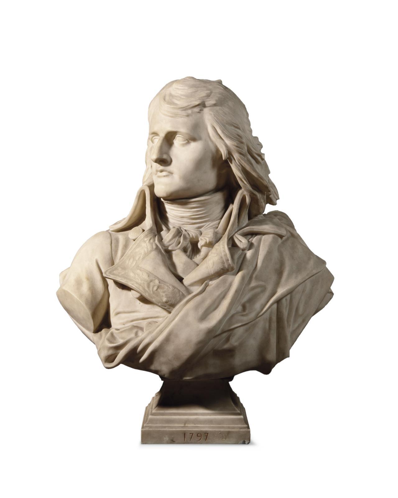Eugène Jean-Baptiste Claude Guillaume (1822-1905) était remarqué pour quatre bustes en marbre (h.80cm chacun). Ils font partie d'une sér