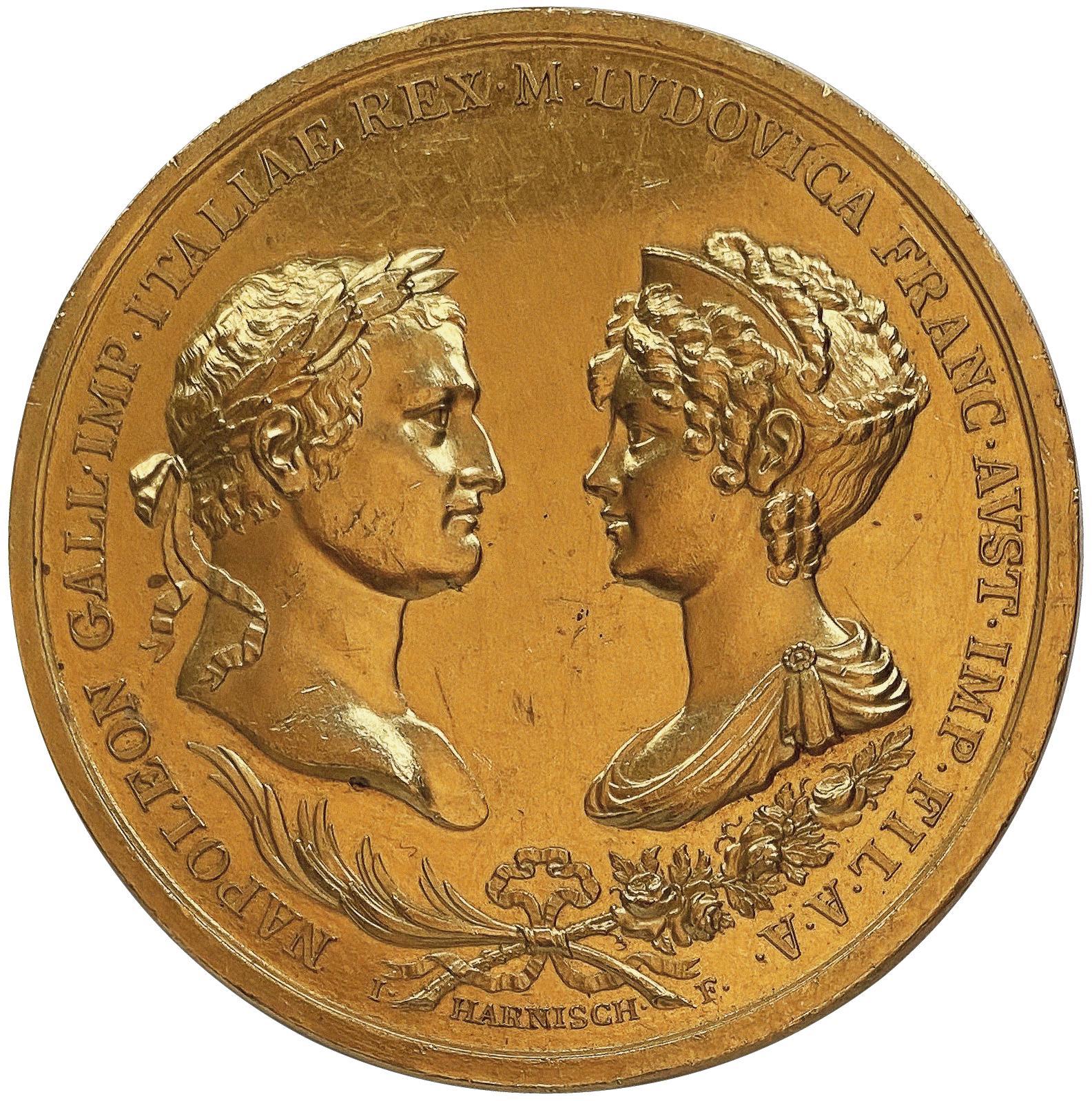 Trois belles surprises attendaient les médailles en or (MmeBerthelot-Vinchon). Celle-ci, célébrant le mariage de NapoléonIer et de Marie