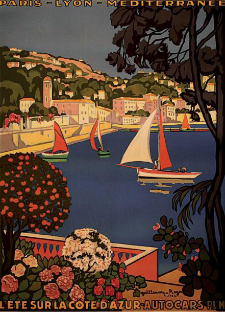 €3,625Guillaume Roger (1867-1943), P.L.M. L'été sur la Côte d'Azur. Le port de Saint-Jean-Cap-Ferrat, November 1924, imprimerie Lucien Ser