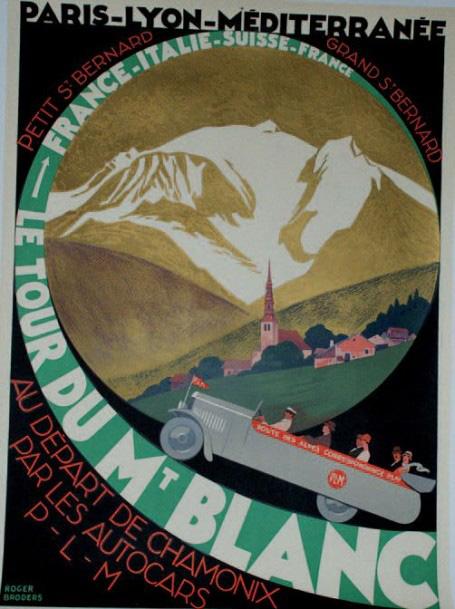 €3,750Roger Broders (1883-1953), P.L.M. Le tour du Mont-Blanc, June 1927, imprimerie Lucien Serre & Cie, Paris, 106 x 76 cm (41.74 x 29.93