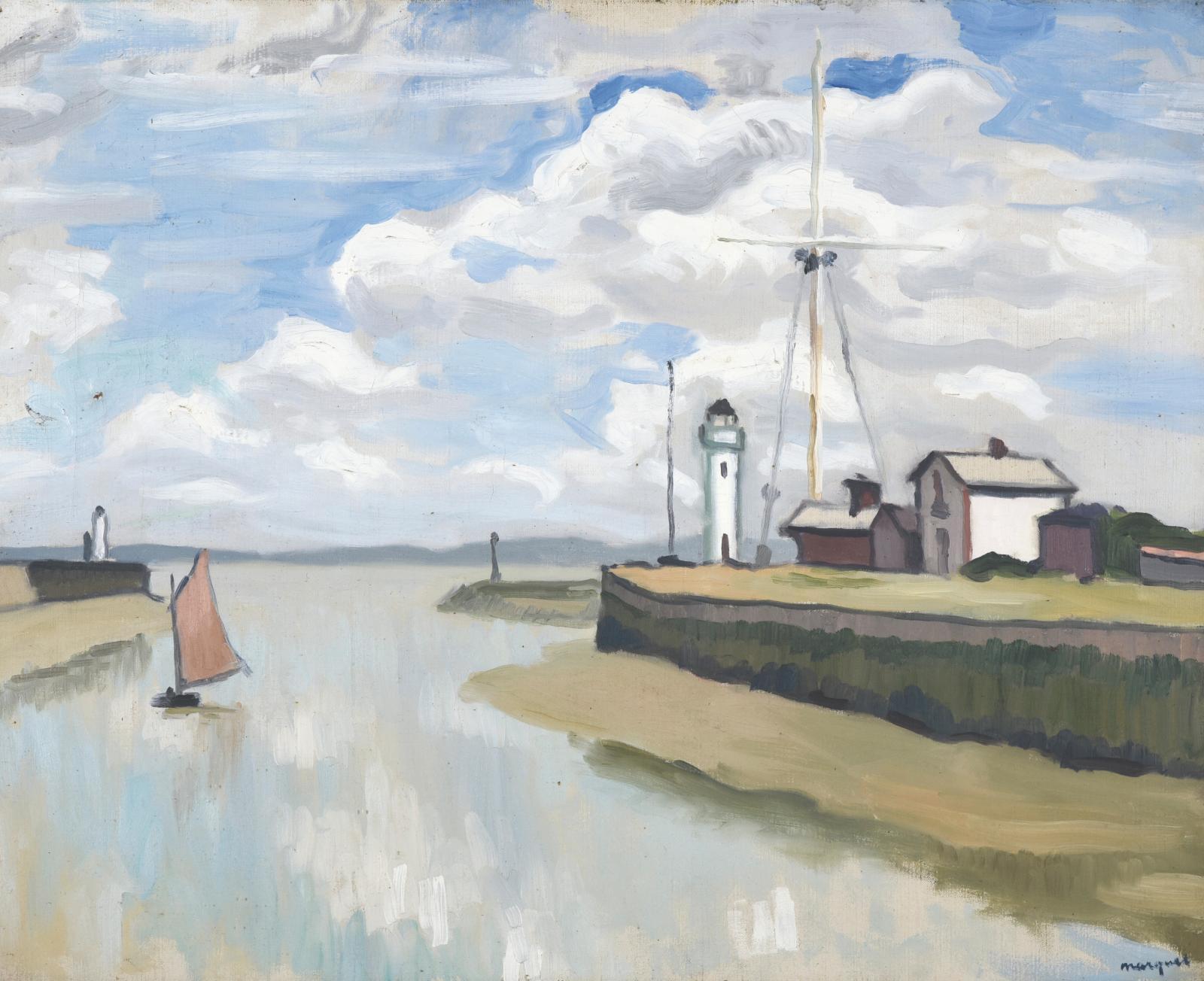 Albert Marquet (1875-1947), Marée basse au port de Honfleur, 1911, huile sur toile, 65x81cm. Adjugé: 161200€