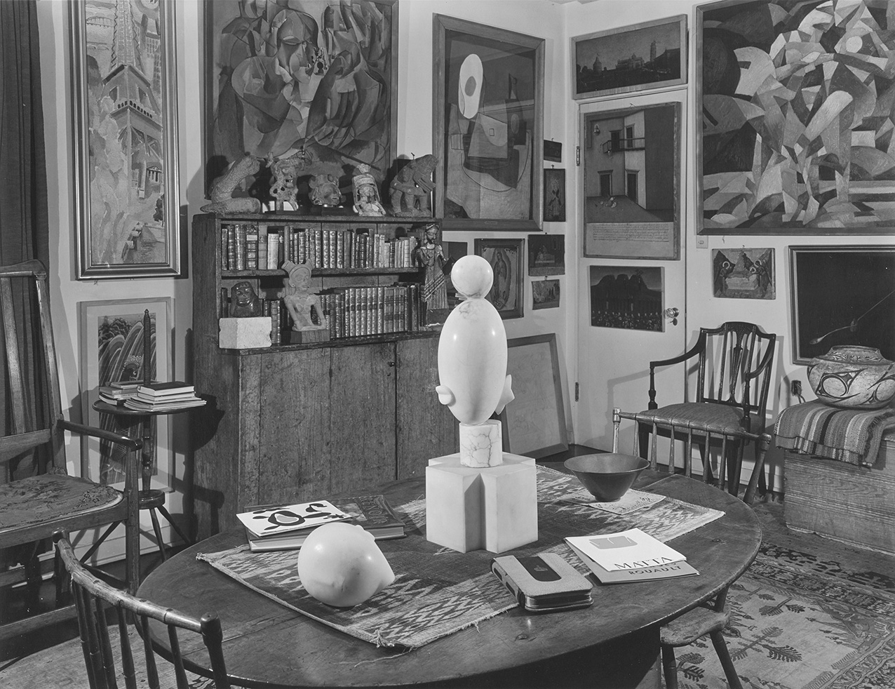 Photograph by Floyd Faxon. Sitting Room, c.?January 1951. Philadelphia Museum of Art, Library and Archives, Arensberg Archives (PMA-WLA),