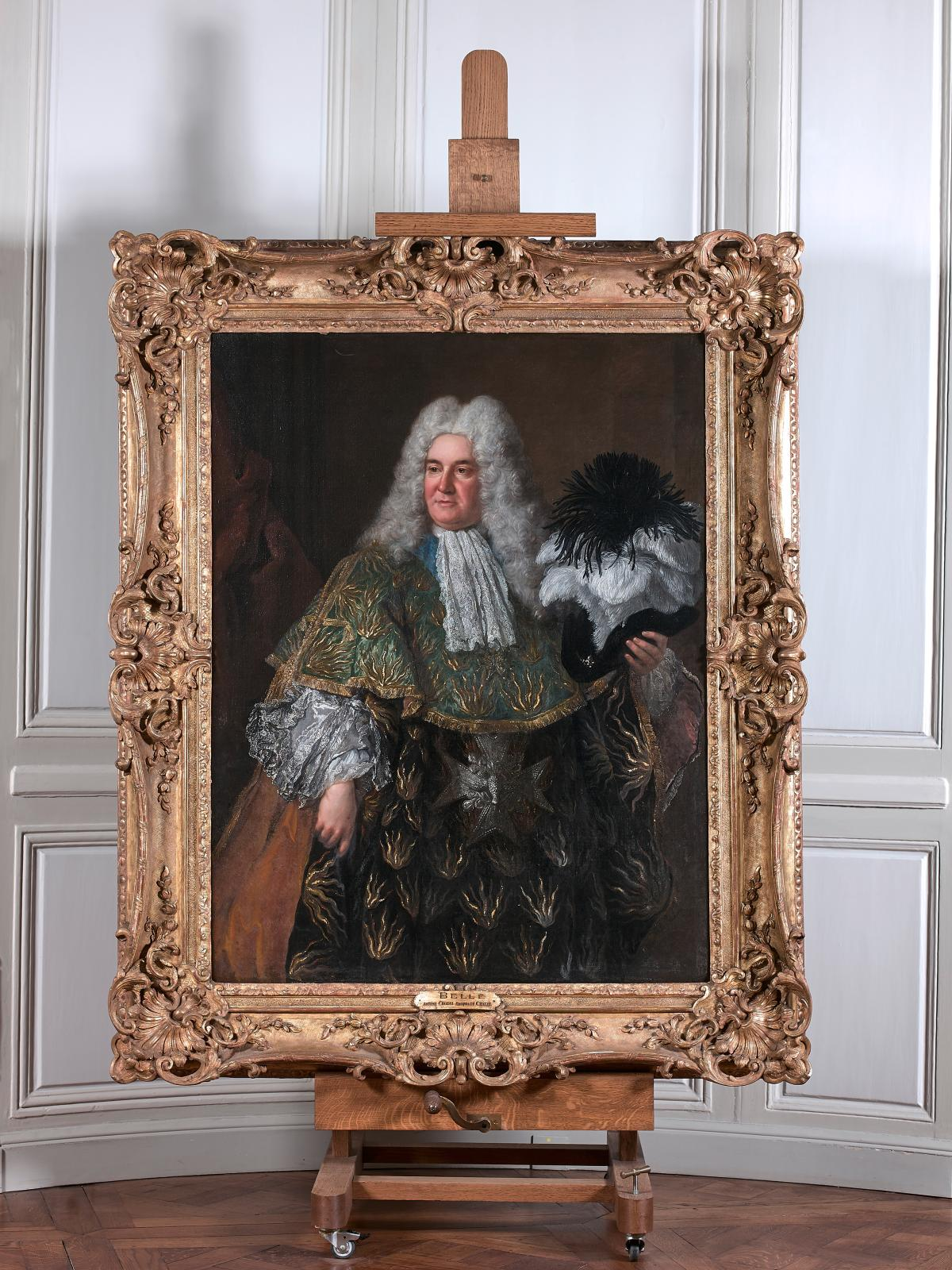 Alexis-Simon Belle (1674-1734), Portrait d'Antoine Crozat, marquis du Châtel, revêtude l'habit de l'ordre du Saint-Esprit, dont il futle