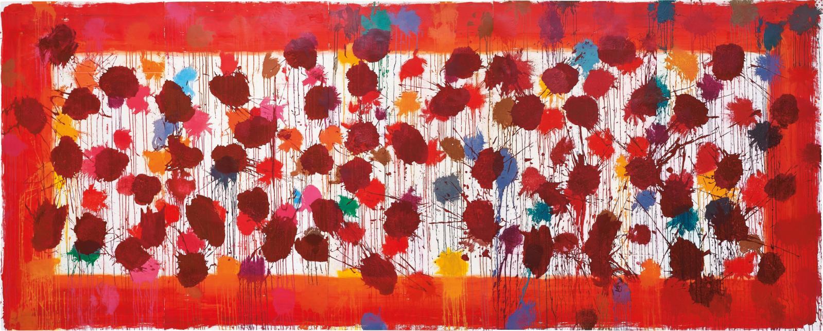 Howard Hodgkin (né en 1932), As Time Goes By (Red),2009, aquatinte en couleurs avec carborundum et peinture à la main, sur cinq feuilles de papier Mo
