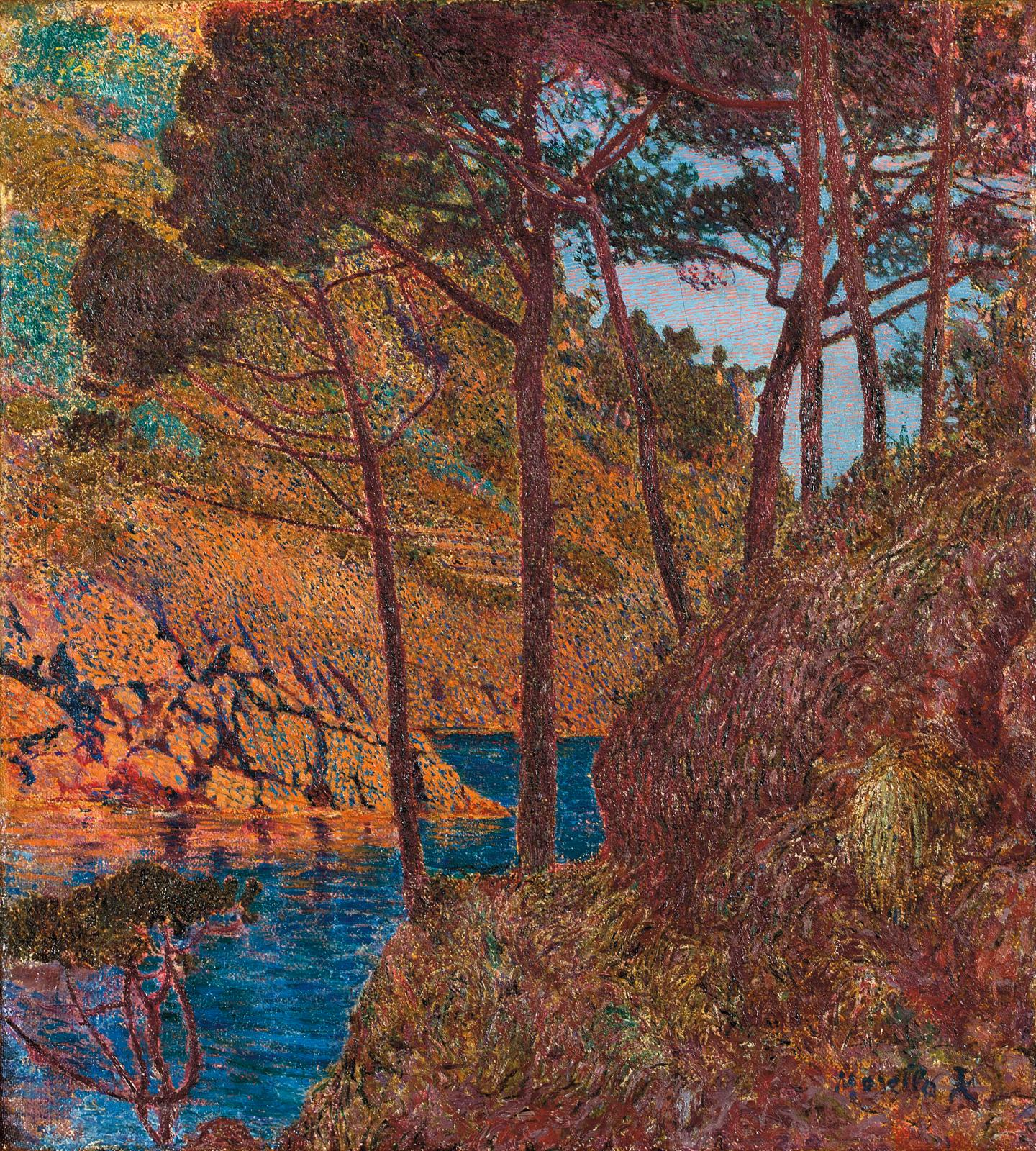 Rubaldo Merello (1872-1922), Parmi les rochers, vers 1905-1906,huile sur toile, 50,5x45,5cm. Adjugé: 158600€