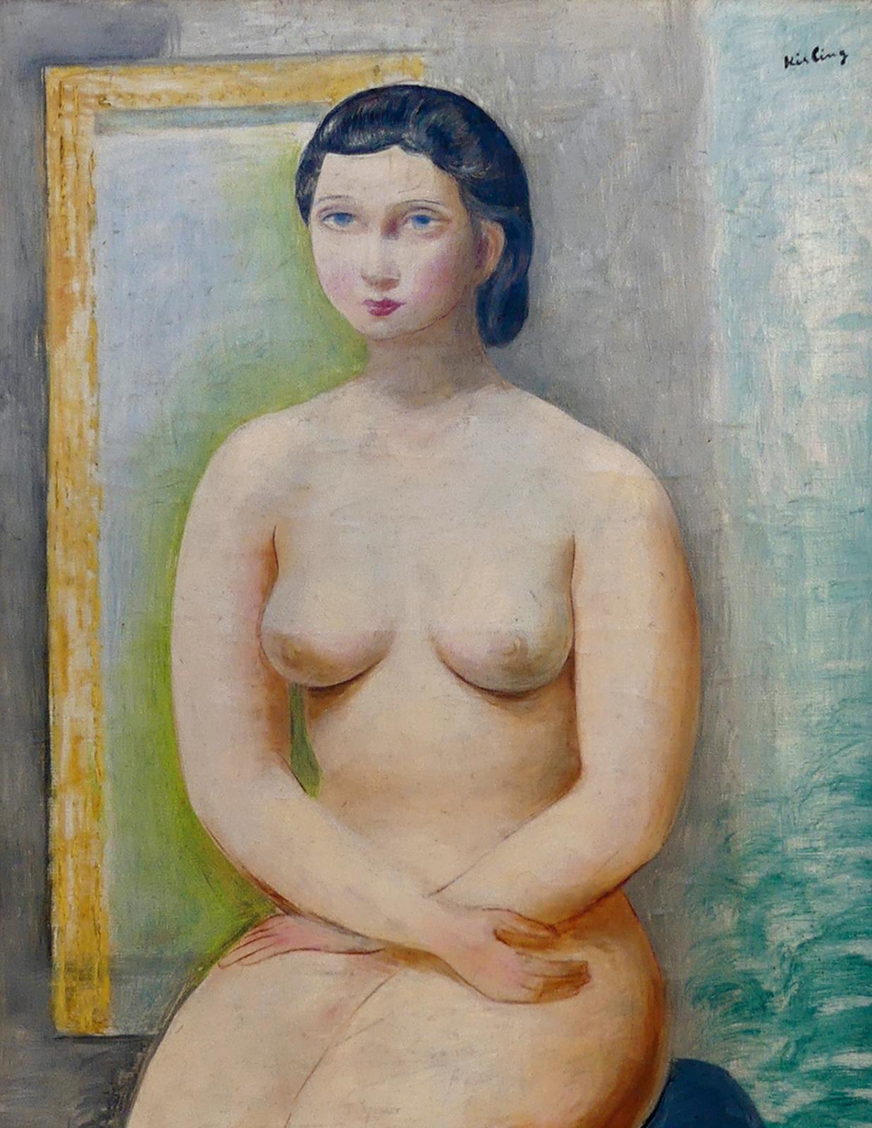 Sur les cimaises, Moïse Kisling (1891-1953) était également bien représenté, à travers deux toiles emblématiques. La plus désirée, à 5145