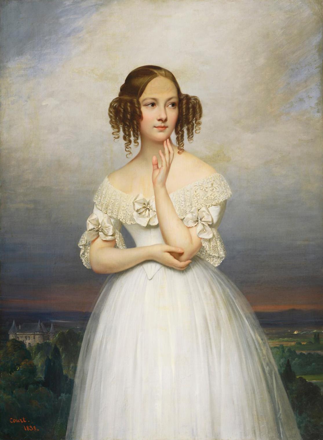 Joseph-Désiré Court (1797-1865), Portrait d'Angélique Pauline Dupont, signed and dated 1841, oil on canvas, 130 x 97 cm (51.2 x 32.2 in).©
