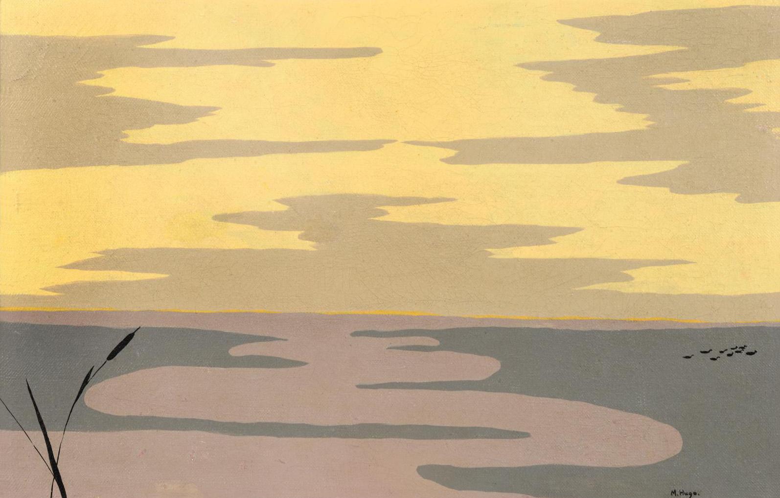 Marguerite Hugo (1896-1984), Marais (Swamp), oil on canvas, 26.5 x 39.8 cm (10.43 x 15.6 in).© Suzanne Nagy
