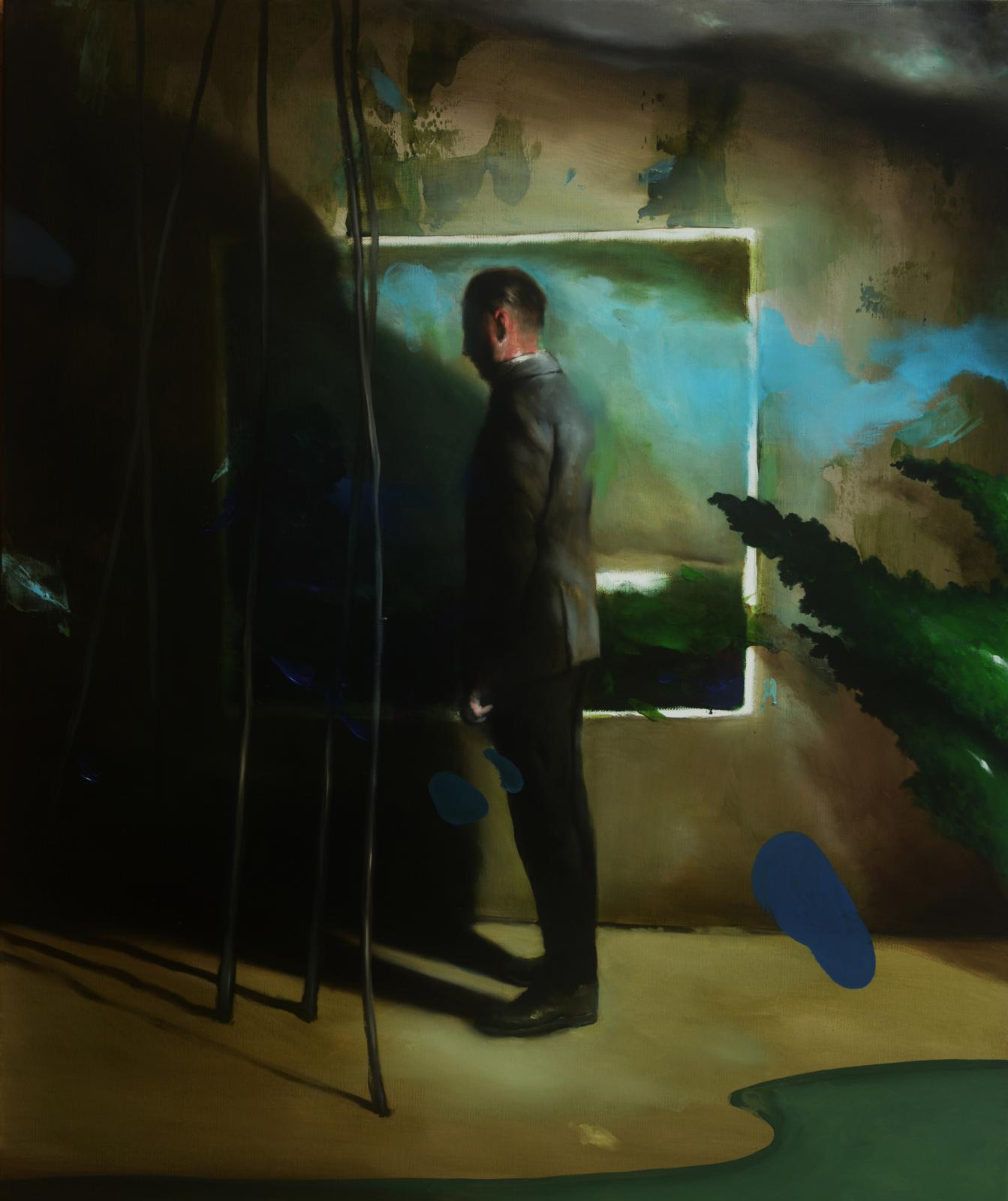 Radu Belcin, Memories, 2018, huile sur toile, 95x80cm. © Galerie Valérie Delaunay