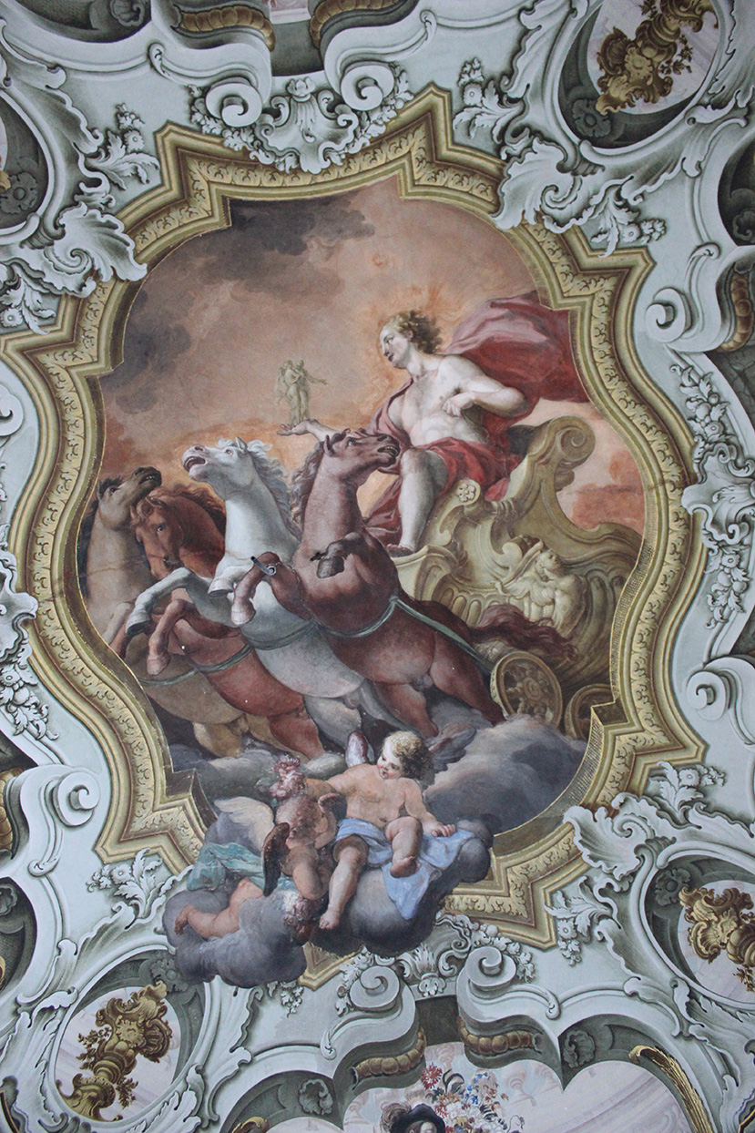 Gioacchino Martorana, The Triumph of Apollo, painted on the ceiling of the Green Room.ARR