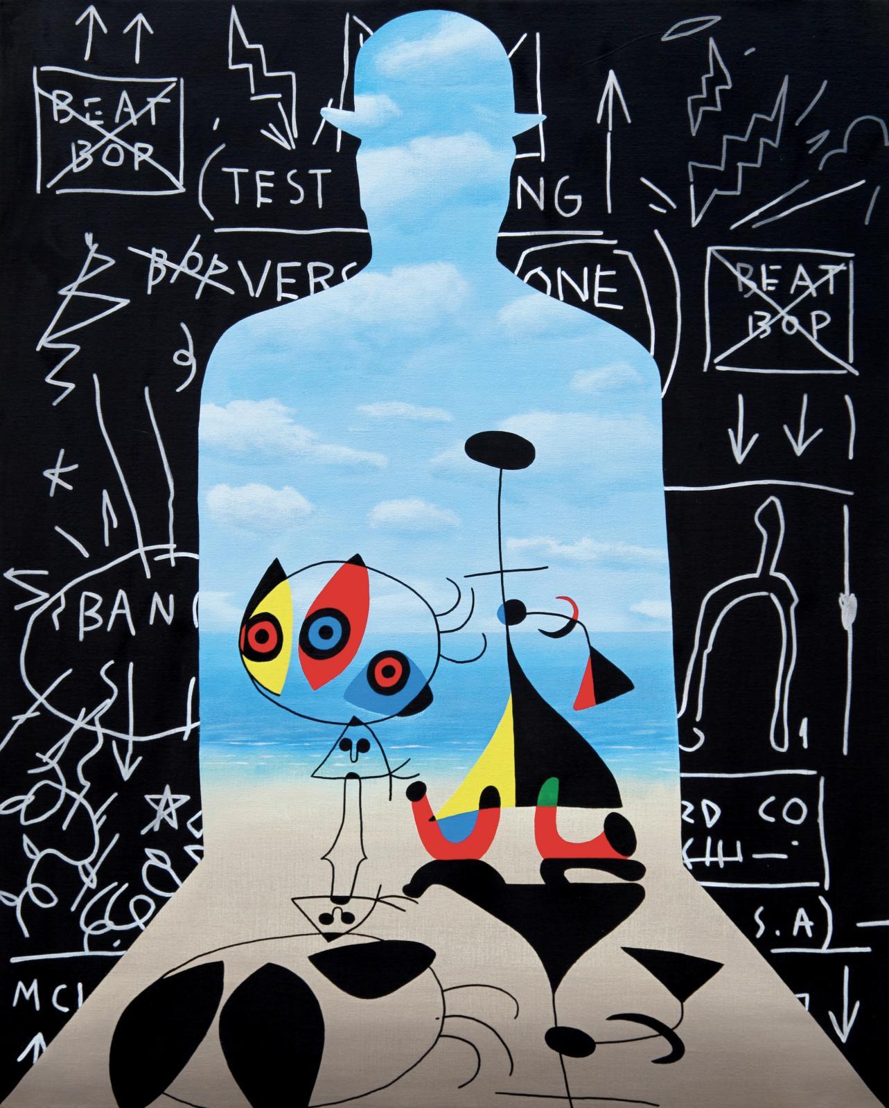 Speedy Graphito (né en 1961), Inside Me, 2020, acrylique sur toile, 81x65cm. ©Speedy Graphito ©Adagp 2021