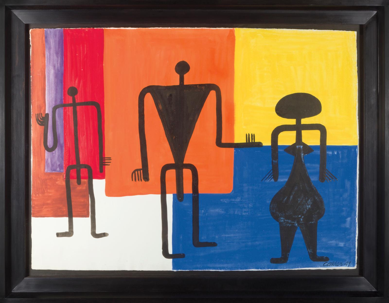 Alexander Calder (1898-1976), Composition, 1949, gouache et encre sur papier, 57,2x 78,7cm. Galerie Brame & Lorenceau. Courtesy Galerie