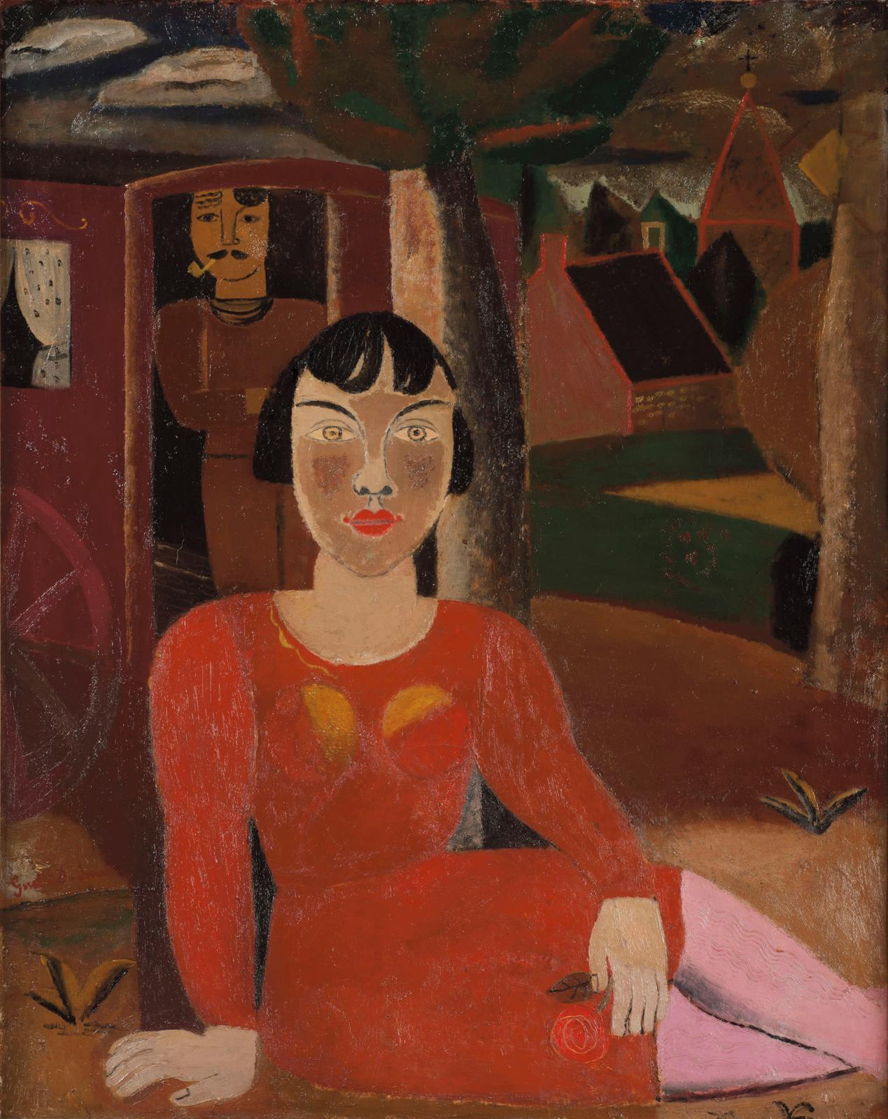 Gustave De Smet (1877-1943), La Foire (The Fair), 1928, oil on canvas, 82 x 65 cm (32.3 x 25.6 in), Galerie De Jonckheere.Courtesy of Gale
