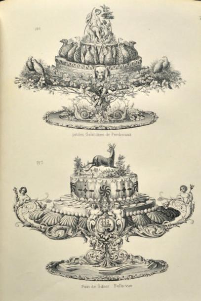 662€ Gustave Garlin, Le Cuisinier moderne ou les secrets de l'art culinaire, Paris, Garnier, 1887, 2 volumes in-4°, édition originale, 33