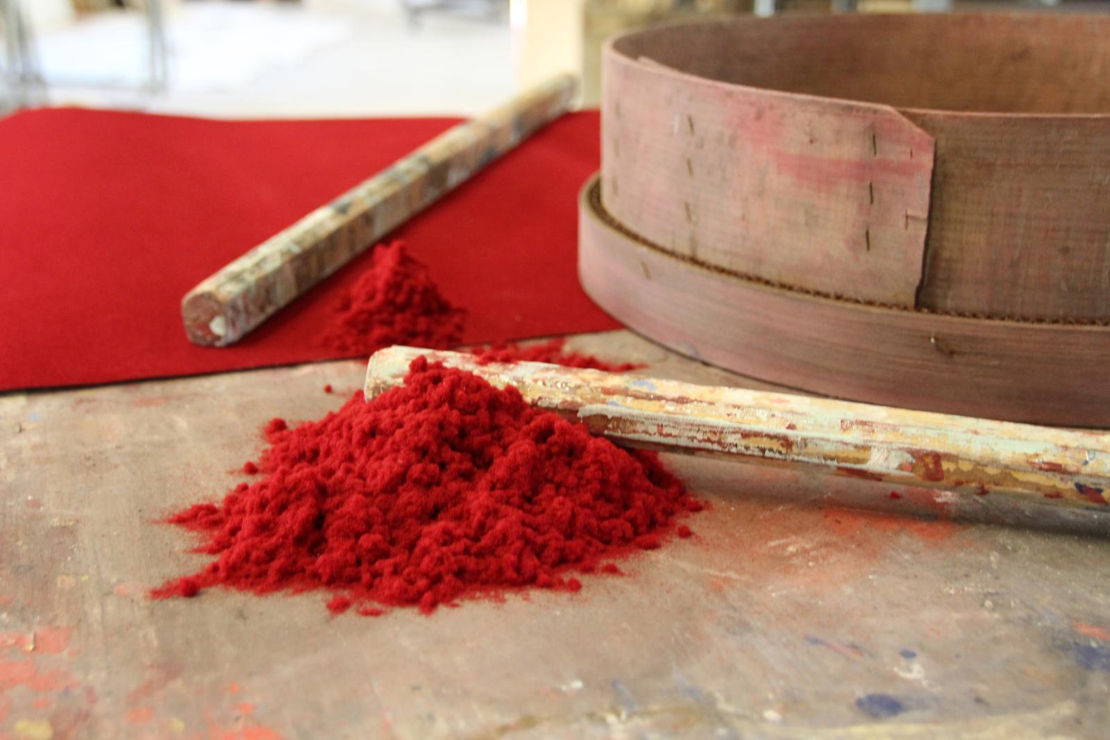 Pigments entrant dans la composition des couleurs utilisées pour les impressions à la planche.