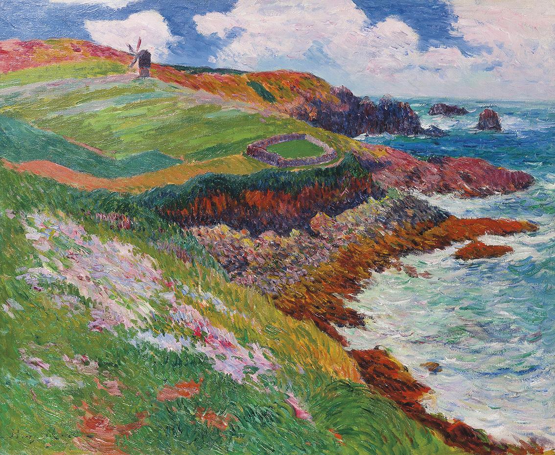 Henry Moret (1856-1913), Baie de Lampaul, Ouessant (Baie de Lampaul, Ouessant), 1895, oil on canvas, 60 x 73 cm (23.62 x 28.74 in).Result:
