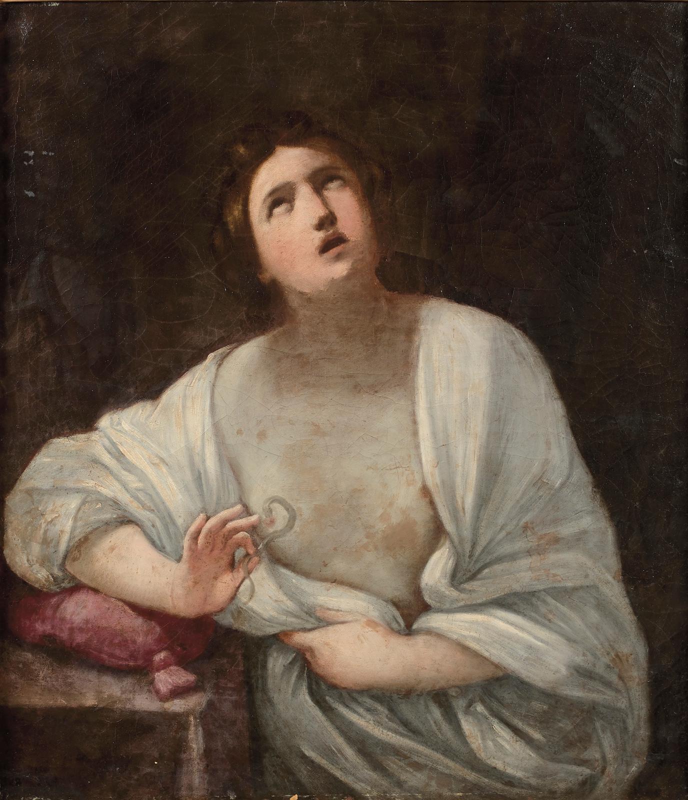 Guido Reni (1575-1642), La Mort de Cléopâtre, huile sur toile, 99x88,5cm. Adjugé: 118940€