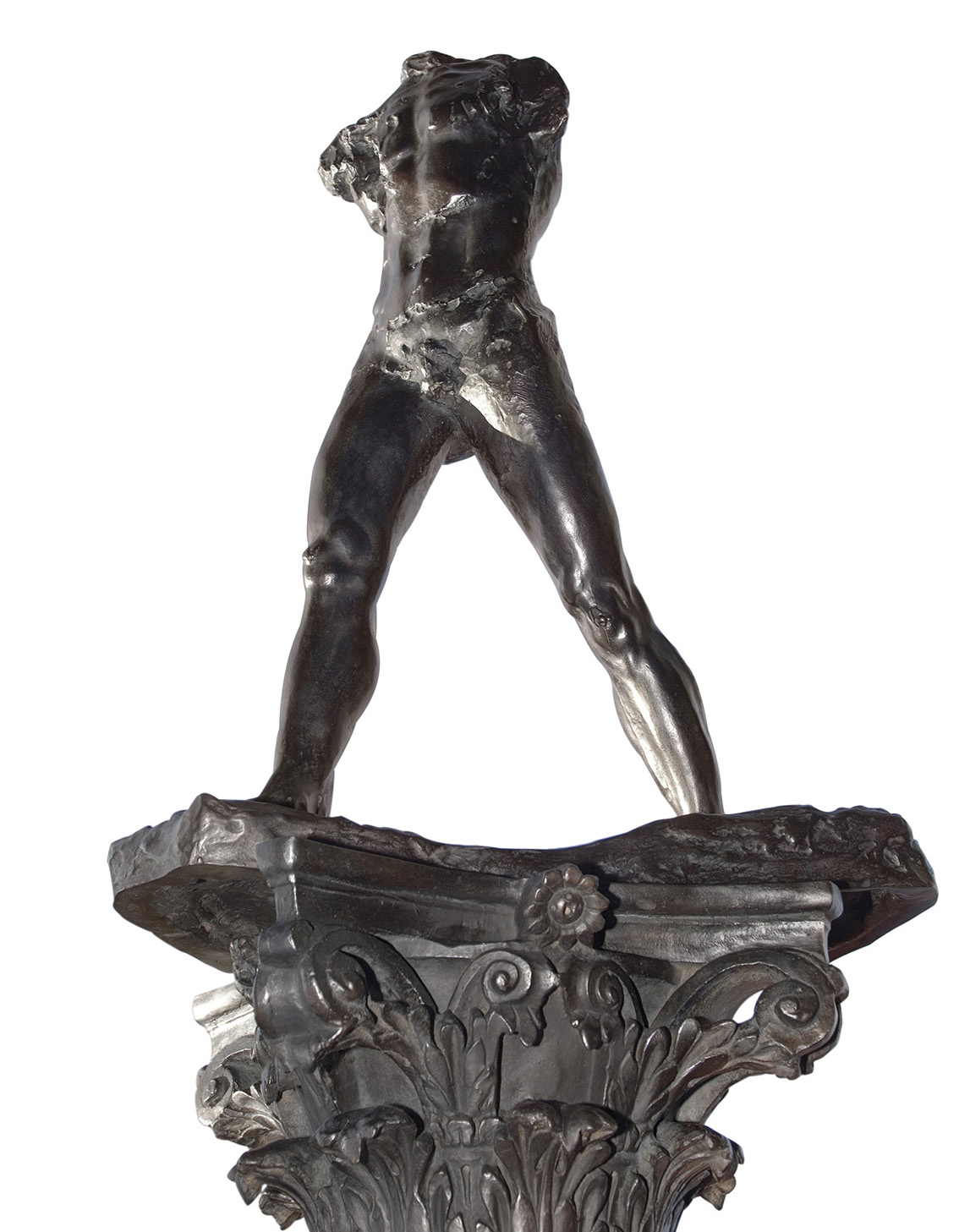 L'homme qui marche sur colonne, jardin de Meudon. Agence photographique du musée Rodin