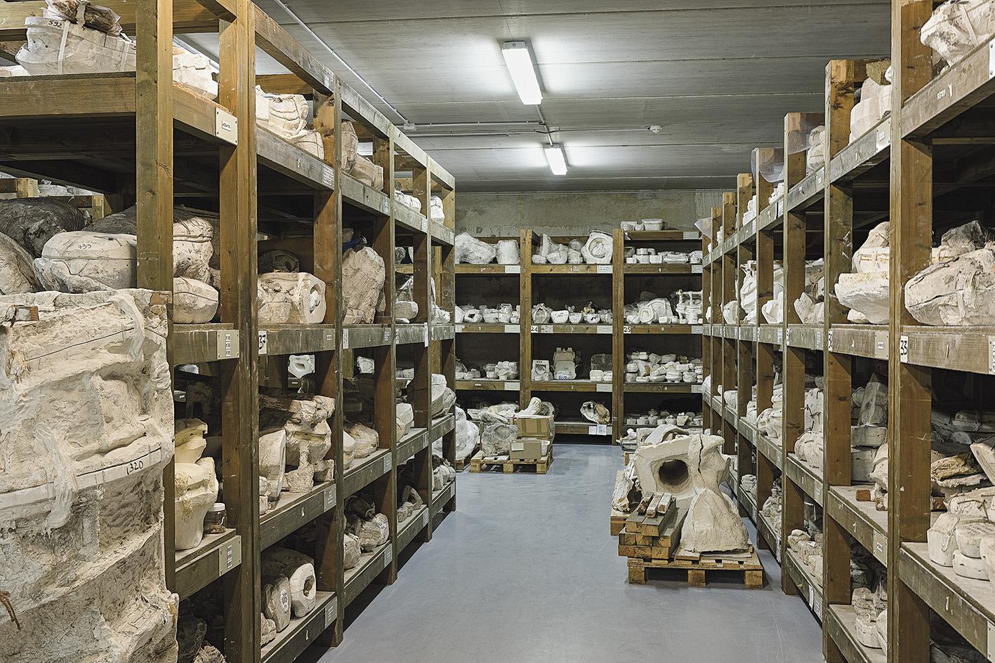 La réserve des moules, dans un endroit tenu secret. Agence photographique du musée Rodin/Jérôme Manoukian