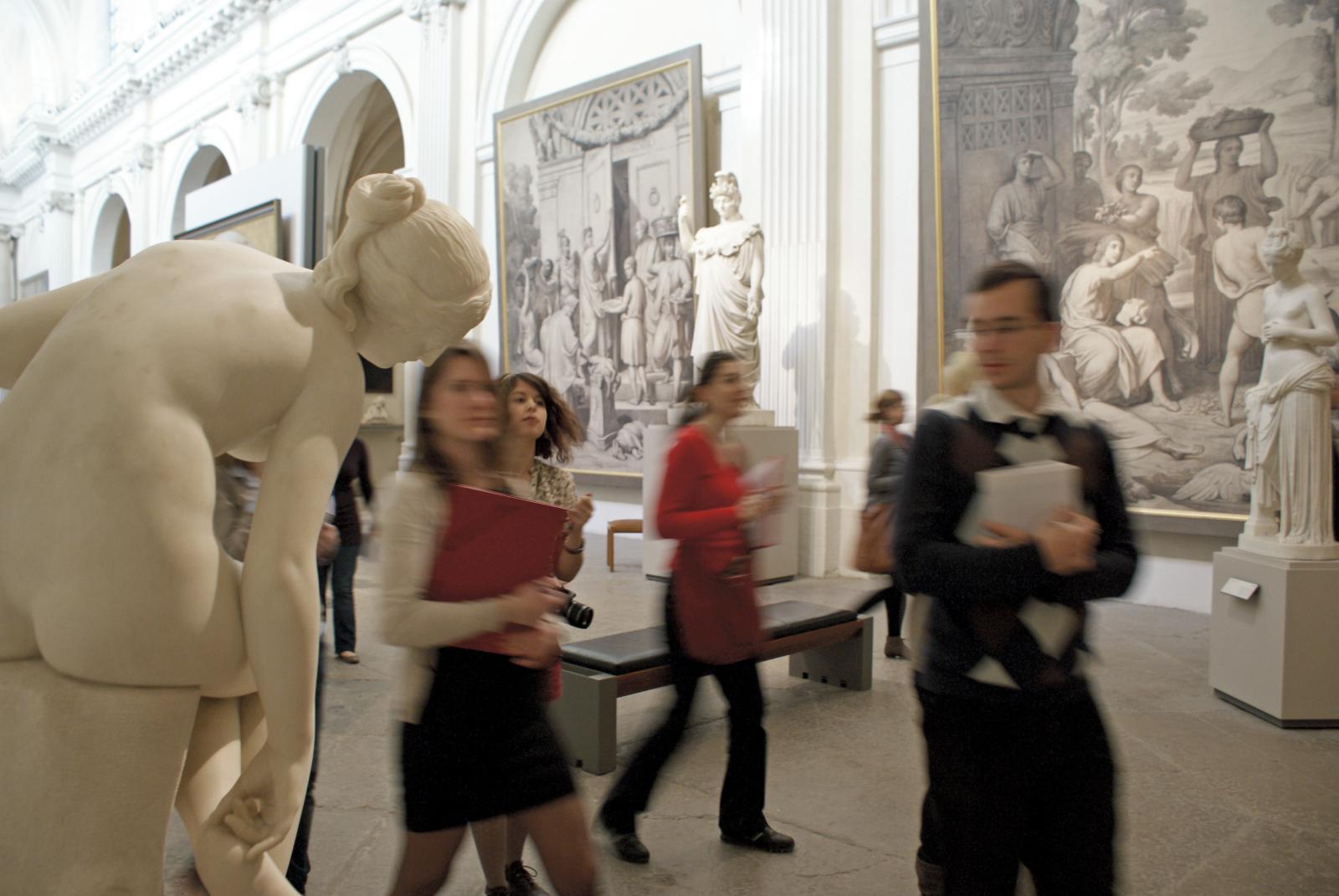 Les travaux dirigés ont lieu, devant les œuvres comme ici, au musée des beaux-arts de Lyon.
