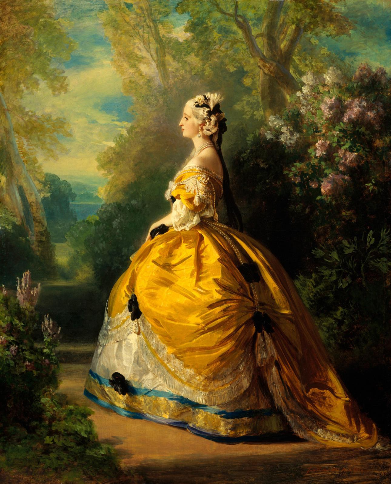 Franz Xaver Winterhalter (1805-1871), Eugenie in XVIII costume, 1854, oil on canvas. New York, Metropolitan Museum, 92.7 x 73.7 cm (36.49