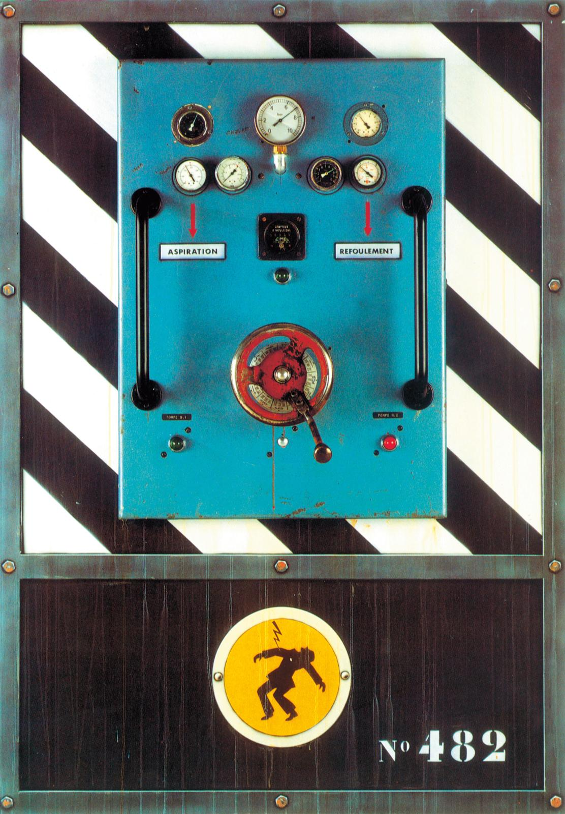 Aspiration / Refoulement, 1989, technique mixte, 162x114cm.