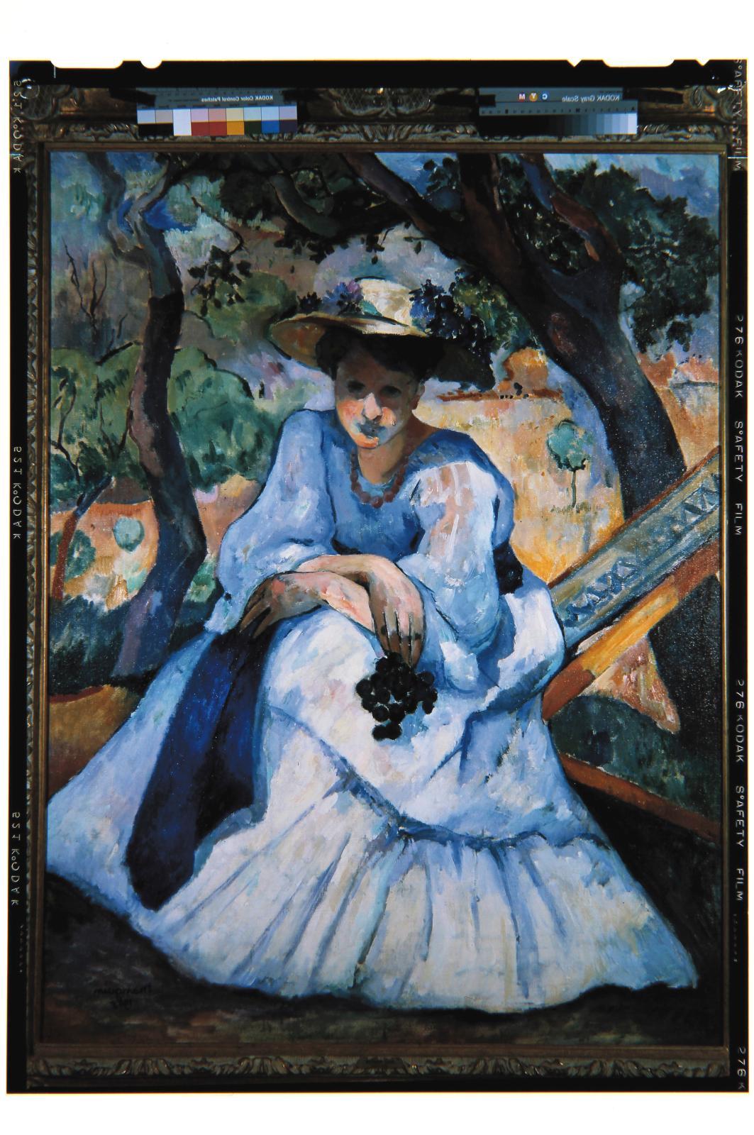 Henri Manguin, La Femme à la grappe, 1905, collection fondation Pierre Gianadda. © collection Pierre Gianadda