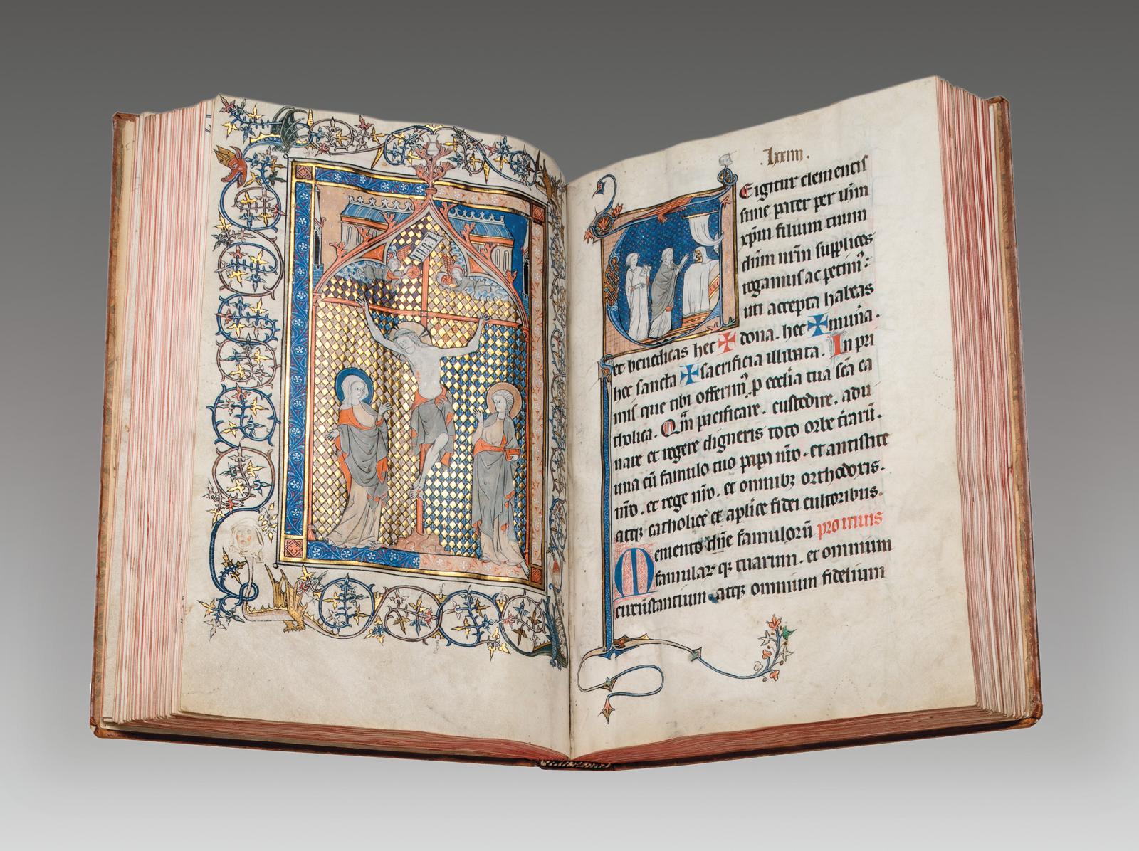 Nord-Est de la France (diocèse de Soissons), vers1250-1275. Missel annoté «The Soissons Missal». Manuscrit enluminé sur parchemin, en latin, 1miniat