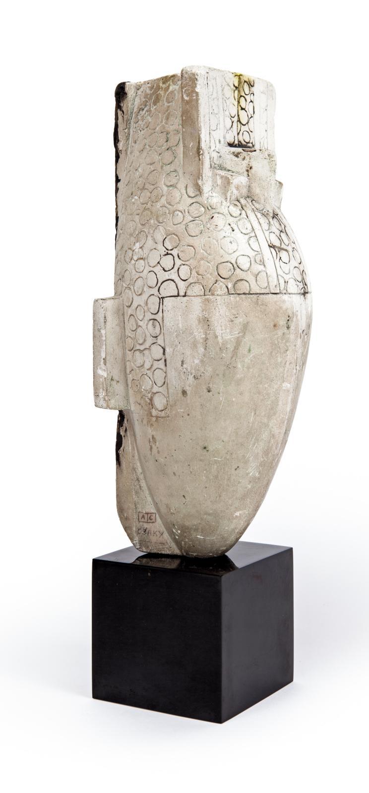 Joseph Csaky, Figure perlée, plâtre original, h.31 cm, base: 5x5,5cm. Galerie Vallois.