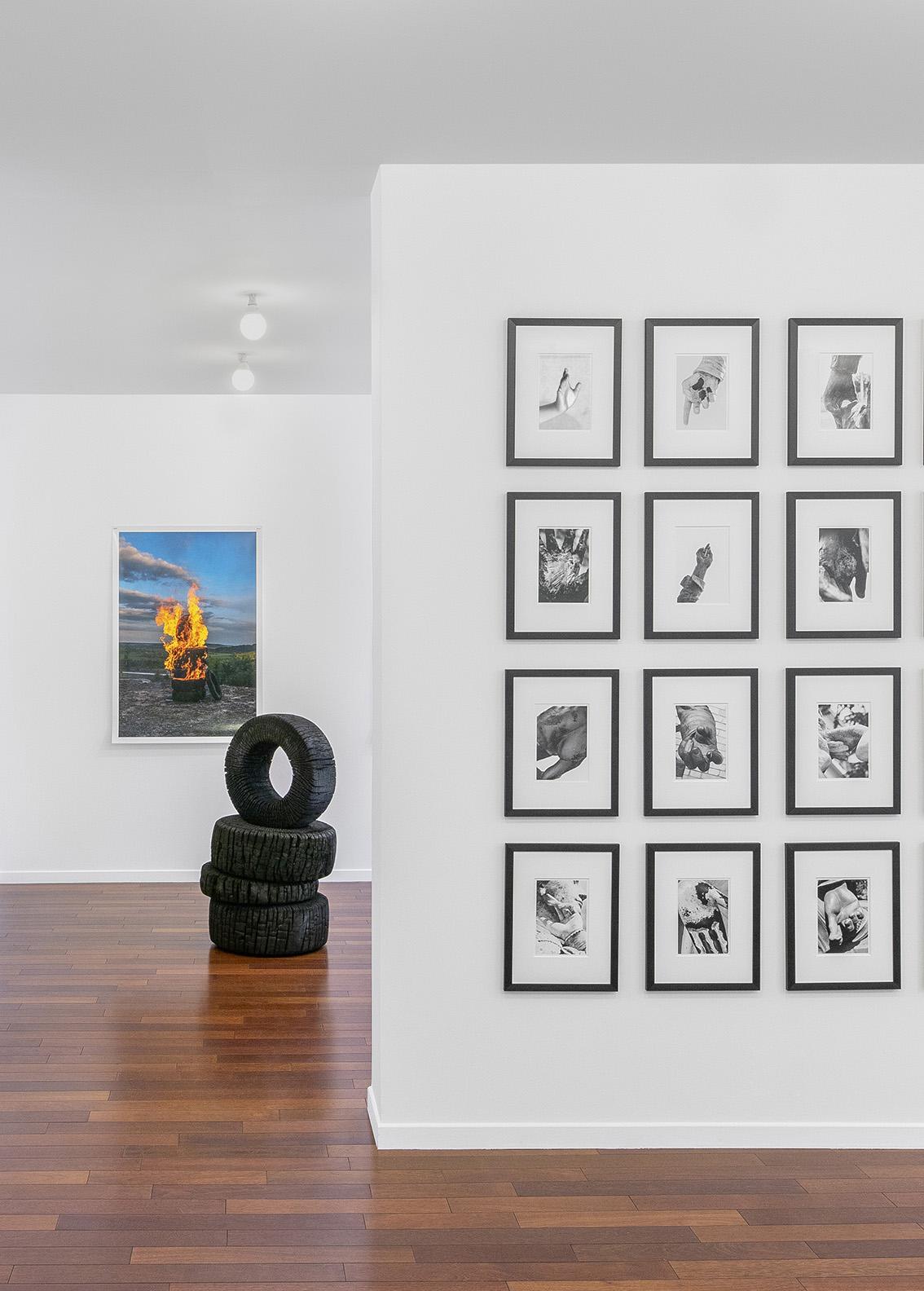 Vue de l'exposition «Eight O'Clock in the Morning: Ferenc Gróf», qui se déroule jusqu'au samedi 3 avril à la galerie mfc-michèle didier