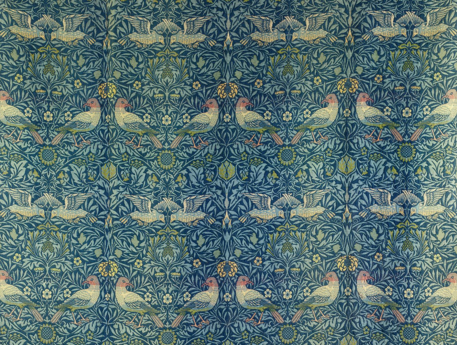 William Morris, Les Oiseaux,1877-1878, laine tissée, 208x165cm (détail),Paris, musée d'Orsay. © RMN-Grand Palais (Musée d'Orsay)/Patr